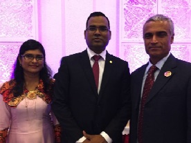 H. E. Ambassador of China, Mohamed Faisal with his wife Jee and Mr. Vijay Harilela