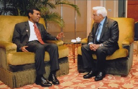 Mr. Mohamed Nasheed, former President of Maldives, with Mr. Bob N. Harilela JP